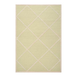 Safavieh - Babette Hand Tufted Rug, Light Green / Ivory 6' X 9' - Construction Method: Hand Tufted. Country of Origin: India. Care Instructions: Vacuum Regularly To Prevent Dust And Crumbs From Settling Into The Roots Of The Fibers. Avoid Direct And Continuous Exposure To Sunlight. Use Rug Protectors Under The Legs Of Heavy Furniture To Avoid Flattening Piles. Do Not Pull Loose Ends; Clip Them With Scissors To Remove. Turn Carpet Occasionally To Equalize Wear. Remove Spills Immediately. Bring classic style to your bedroom, living room, or home office with a richly-dimensional Safavieh Cambridge Rug. Artfully hand-tufted, these plush wool area rugs are crafted with plush and loop textures to highlight timeless motifs updated for today's homes in fashion colors.