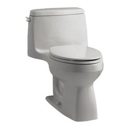 "Kohler - Kohler K-3811-K4 Cashmere Santa Rosa Santa Rosa 1.6 GPF One Piece - Santa Rosa 1.6 GPF One Piece Elongated Comfort Height Toilet The Santa Rosa Comfort Height 1-pc compact elongated 1.6 gpf toilet offers the exceptional functionality you expect from Kohler in a smaller footprint, so you can transform even the smallest of bathrooms into a well designed, comfortable space.  Comfort Height Elongated Toilet bowl - With a seat height comparable to that of a standard chair, Comfort Height toilets make sitting down and standing up easier for people of all ages 12"" (30.5 cm) Rough-In Dimensions: 27-3/4"" Length x 18-3/4"" Width x 28-3/16"" Height Class Five - provides tremendous bulk waste flushing performance and best-in-class bowl cleanliness Canister flush valve provides smooth flushing actuation with consistent water usage, flush after flush Polished Chrome Trip Lever Includes Brevia with Q2 Advantage Seat Less supply  The K-3811 CAN NOT be sold to CA or TX as it is a 1.6 gpf tank. CA & TX buyers please refer to the K-3810 which is a 1.28 gpf toilet."