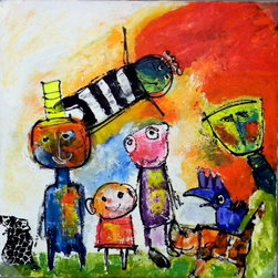 SCANDINAVIAN ART FACTORY - Large Artwork - One of a kind special collection painting- original