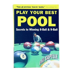 Sterling Gaming - Capelles Play Your Best Pool Training Manual - This book has 400 illustrations on fundamentals, shot making, position play, etc.. Over 140 of the 440 pages are devoted to 8-Ball and 9-Ball strategy. Good coverage of the defensive game. An excellent resource book for beginners. Valuable tool for intermediate and advanced players. Weight: 2 lbs.