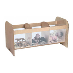 Whitneybrothers - Whitney Brothers Clear View Kids Toy Storage Box With Three Compartments - Three spacious open storage compartments with plexiglass sides provide easy viewing and access to a favorite doll or toy. No tops to slam on small fingers. Beautiful, durable birch laminate construction in tough, easy-to-clean natural UV finish. Ships fully assembled by UPS and FEDExGround. GreenGuard Certified. Made in USA. Lifetime Warranty.