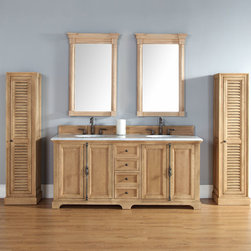 72 Inch Providence Natural Oak Double Sink Vanity - Please note: Vanities are priced with no vanity top. Multiple vanity top options available.