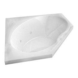 Arista - Pagani 60 x 60 Corner Whirlpool Drop-In Bathtub with Center Drain - Left Pump - DESCRIPTION