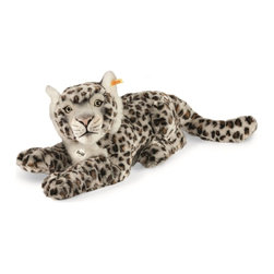 Steiff - Steiff Plush Paddy Snow Leopard - Steiff Paddy Snow Leopard is made of cuddly soft spotted light grey plush. Ages 3 and up. Machine washable. Handmade by Steiff of Germany.