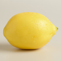 World Market - Decorative Lemons, 6-Piece - Add colorful detail to centerpieces, vases or other home décor displays with our Decorative Lemons. These ever-ripe lemons retain their lifelike look season after season.