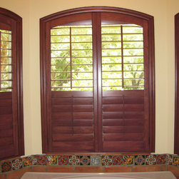 Arch Top Wood Shutters - These are beautiful wood shutters with arch top.