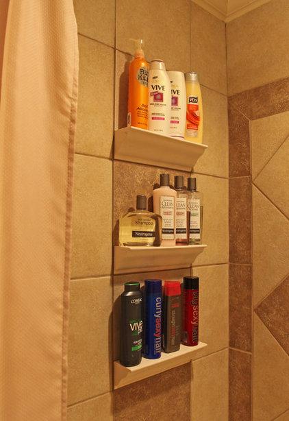 Traditional Tile by Bathroom Tile Shower Shelves