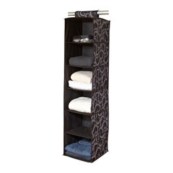 Laura Ashley - Laura Ashley 6-shelf Sweater Organizer - Save space in your closet with this Laura Ashley six-shelf sweater organizer. The stylish organizer hangs easily on any closet bar for convenient vertical storage. Design works with any closet bar for easy,no-tool installation.
