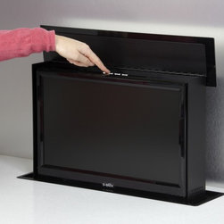 "S-Box - S-Box TV box - This clever system presents another way to include a TV in your kitchen.  The TV S-Box presents a 19"" LED/DVD unit from its housing below the work surface at the press of a"