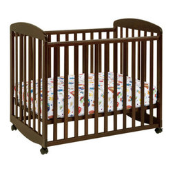 DaVinci - Alpha Mini Rocking Crib - A down-sized crib for those who may not use one daily. Perfect for those who can't devote the space to a full size crib. The DaVinci Mini Crib Mattress offer added comfort to the comfortable, smaller space provided by the DaVinci Mini Cribs. Crip Features: -Round base allows for rocking the crib like a cradle.-Rocking stop allows you to make the bed stationary.-4 Adjustable levels that allows you to adjust the mattress height as your infant grows.-Comes with casters for easy mobility.-Meets and exceeds all US safety standards.-Linens not included.-Mattress not included.-This is a NON-Drop Side crib.-For use with DaVinci Mini Cribs.-Non-allergenic.-Cloth binding.-Meets Federal Flammibility Standard CFR-1632.-50-Coil Mattress has tempered steel, 14-gauge coils, a 9-gauge border rod for edge support, resinated polyester fiber batting padding and a reinforced, triple-laminated, wet-proof cover.-1'' Pad included.-Constructed from New Zealand Radiata Pine Wood.-Mattress 3'' Mattress Pad is constructed of lightweight, high-density, 100% polyester RPFB batting and has a reinforced laminated cover.-Dimensions:Mattresses: 3'' - 5.5'' H x 24'' W x 38'' DAbout New Zealand Radiata Pine Wood: Radiata Pine, better known as 'New Zealand Pine' is a softwood tree that contains many properties that make it very suitable for furniture and furniture making. It has a density equal to that of hardwoods like poplar, mahogany and oak. Its uniform density ensures a smooth and consistent texture and confers its excellent machining, painting and staining properties; there is almost no variation in color between pieces. DaVinci's pine wood originates from forests maintained by managers that enforce environmental responsibility and the conservation of forest wildlife. ***Please note that these products cannot be shipped to Alaska, Hawaii, or Puerto Rico. We apologize for the inconvenience - feel free to call us regarding alternatives! This Crib is approved for