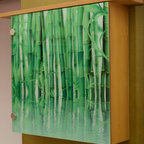 Lighted wall decor- color changing lights - Illuminated bamboo art wall decor with color changing LED lights. Comes with remote control for over 10 different colored lights.