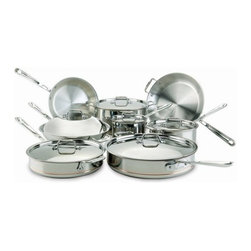 All-Clad - All-Clad Copper Core 14-Pc Cookware Set - Includes: