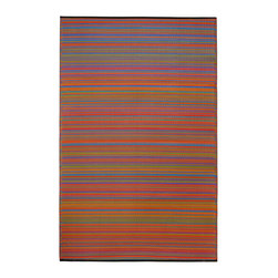 None - Prater Mills Indoor/Outdoor Reversible Multicolor Rug - This durable multicolor rug has been crafted from recycled plastic to create a uniquely styled decorative accent. This rug is versatile enough for both indoor and outdoor environments and makes a handsome addition to any kitchen,porch or patio.