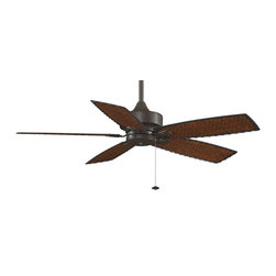 """Fanimation - Fanimation Cancun 52"""" Transitional Ceiling Fan - Wet Location Rated X-BO2108PF - The cooling breezes and tropical look of The Cancun create the relaxing environment of a beach vacation in any room. Unlike most beach vacations, however, the affordably priced Cancun will not stretch your budget. The Cancun is also an environmentally friendly fan that has earned the Energy Star rating and features antique finish woven bamboo blades. The Cancun is available in oil-rubbed bronze finish, accommodates a ceiling slope up to 30 degrees and operates on three forward and reverse speeds. As if being cost saving, energy efficient and tropically inspired weren't enough, The Cancun also features exceptional engineering and operates in both dry, damp locations or wet locations"""