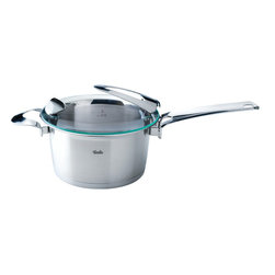 """Fissler - Solea High Saucepan, 2.3L - """"Visionary. Individual. Sophisticated. This is the Solea premium cookware line. With its compelling functional features, design, and high quality """"""""Made in Germany"""""""" standard, it is an absolute must for sophisticated cooks with a sense of aesthetics and design. Loaded with many ingenious functions and numerous design awards, Solea provides unique cooking convenience. All Solea items are dishwasher-safe and oven-proof."""