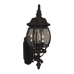"""Exteriors - Exteriors Cast Aluminum French Style Traditional Outdoor Wall Sconce X-70-033Z - Add some French zeal to your porch, garage, or main entrance with the Craftmade Cast Aluminum French Style Traditional Outdoor Wall Sconce - CM-Z330. The bold styling and highly detailed styling make this a welcome addition to almost any surface. The """"maintenance free"""" black finish allows you to avoid time-consuming hassles and the clear beveled glass provides bright illumination."""