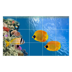 Picture-Tiles, LLC - Sealife Photo Kitchen Bathroom Tile Mural  36 x 60 - * Sealife Photo Kitchen Bathroom Tile Mural 1812
