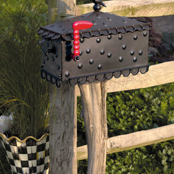 """MacKenzie-Childs - Birdsong Mailbox - MacKenzie-ChildsBirdsong MailboxDetailsPre-drilled mounting holes on bottom and sides for multiple mounting options. Can be mounted on a 4x4 post (not included).Handcrafted of sheet metal and cast aluminum.Outdoor safe.11""""W x 17""""D x 24""""T.From MacKenzie-Childs .Designer About MacKenzie-Childs:Established in 1983 MacKenzie-Childs combines vibrant colors and patterns to create a whimsical collection of tableware furniture and decorative accessories that epitomize """"tradition with a twist."""" The company's designers draw inspiration from the pastoral setting of their studios located on a 65-acre former dairy farm in Aurora New York."""