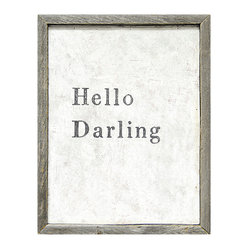 Hello Darling Simplicity Vintage Reclaimed Wood Wall Art