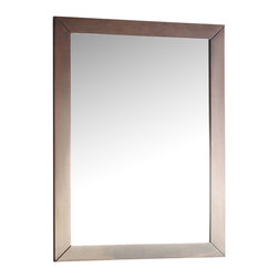 "Simpli Home - Burnaby Walnut Brown Bath Vanity  Mirror - The Simpli Home 22"" x 30"" Burnaby Vanity Mirror is designed to match our Burnaby Collection Vanities.  The mirror matches the casual contemporary style of the collection and is finished in a dark walnut brown Stain finish."