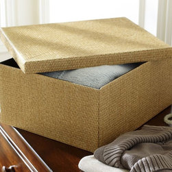 Paloma Collapsible Storage Sweater Box - I like the idea of having a couple of lidded boxes for out-of-season items. They make attractive storage and serve a purpose, which is nice.