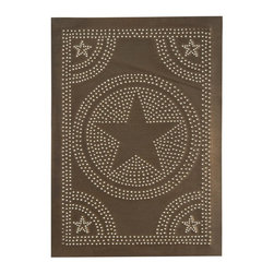 "USA Handcrafted - Four Handcrafted Punched Tin Cabinet Panel Country Barn Star Design, Blackened T - Our punched panels are handcrafted in Pennsylvania, available in copper or a variety of tin finishes, they are perfect cabinet inserts, and suitable for all of your primitive country decorating needs, Sold in Packs of Four, Each Measures 10"" wide X 14"" high"