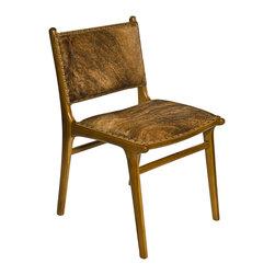 KUBU Side/Dining Chair in brown cow hide - Beautiful Side/Dining chair upholstered in brown cow hide.
