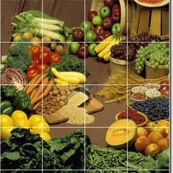 Picture-Tiles, LLC - Fruits Vegetables Photo Ceramic Tile Mural 14 - * MURAL SIZE: 36x24 inch tile mural using (24) 6x6 ceramic tiles-satin finish.