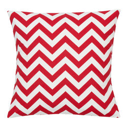 Look Here Jane, LLC - Chevron Red Pillow Cover - PILLOW COVER
