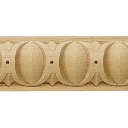 """Inviting Home - Altoona Egg-and-Dart Carved Wood Panel Molding - Altoona Egg-and-Dart carved wood panel molding 1-1/4""""H x 7/16""""P x 8'00""""L sold in 8 foot length 4 piece minimum order required Wood panel molding specifications: Outstanding quality molding profile carved from high grade kiln dried solid European beech wood. High relief decorative design is machine carved. Wood molding is sold unfinished and can be easily stained painted or glazed. The installation of the wood molding should be treated the same manner as you would treat any wood molding: all molding should be kept in a clean and dry environment away from excessive moisture. acclimate wooden moldings for 5-7 days. when installing wood moldings it is recommended to nail molding securely to studs; pre-drill when necessary and glue all mitered corners for maximum support."""