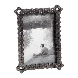 Bike Chain Frame - Giving the gift of a cherished photo for Valentine's Day is always appreciated, but I think my man would love it even more if it came in an über-cool frame. This one is ecofriendly with an industrial charm that I think he would appreciate.