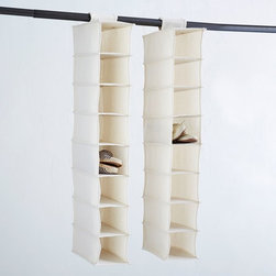 Canvas Hanging Shoe Organizer - Hanging shoe racks are perfect for dirty shoes, but they're also great for cords and other items that tend to get lost.