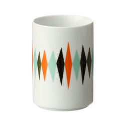 Ferm Living - Ferm Living Large Cup - Sip large with this porcelain cup. A multicolored diamond design gives it a retro-cool feel, while its clean lines are all about contemporary appeal.100% porcelain7cm W x 10cm H