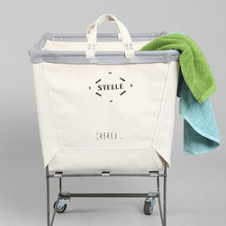 Steele Canvas Elevated Laundry Hamper, Neutral - I hope there is room for a laundry hamper in the bathroom. From my experience, the closer the hamper, the easier it is to get the dirty clothes inside. I love the industrial style of this one. And it has wheels!