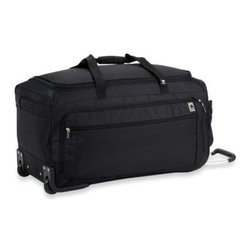Delsey - DELSEY Helium Sky 28-Inch Spinner Trolley Duffel in Black - This high quality DELSEY luggage is built to handle all forms of travel. Made of 100% ballistic nylon with foam backing and features double spinner wheels for exceptional maneuverability.