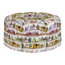 French Heritage - French Heritage Elisa Ottoman - Whimsical and trés, trés French. You'll want to minuet with the best and then rest your tootsies on this gorgeous, comfy ottoman. Costumes not included.