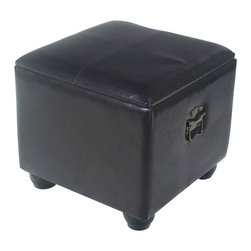 International Caravan - International Caravan Carmel Square Ottoman Trunk with Lid in Chocolate - International Caravan - Ottomans - YWLF2188DC - For over 44 years International Caravan has been one of the leaders in quality outdoor and indoor furniture. Using only the finest materials they bring skill craftsmanship and complete dedication to those who enjoy their furniture. You cannot go wrong with any of International Caravan's beautifully constructed pieces of furniture that are sure to be a focal point inside or outside of your home for years to come.