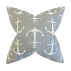 """The Pillow Collection - Gish Coastal Pillow, Gray 18"""" x 18"""" - Let this nautical-inspired accent piece bring comfort and style to any of your rooms."""