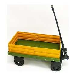 None - Mighty Hauler Folding Cart - This portable folding cart is made of rigid plastic for durability,and the handle telescopes for comfort. The Mighty Hauler folds up for portability,making it ideal for home or office use. It has a weight capacity of 250 pounds.