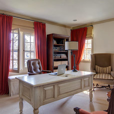 Traditional Home Office by B Fein Interiors LLC