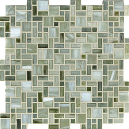 "Glass Tile Oasis - Grass Unique Shapes Green Kitchen Frosted Glass - Sheet size:  Approx 1.03 Sq. Ft.     Tile Size:  1"" x 1""  1/2"" x 1""  1/2"" x 1/2""     Tiles per sheet:  240     Tile thickness:  1/4""      Grout Joints:  1/8""     Sheet Mount:  Paper Face      Sold by the sheet      - These tiles are made from hand-poured glass and designed with variations of color  tone  shade and size for a distinctive appearance. Our production process incorporates creases  wrinkles  shivers  waves  and bubbles designed to catch all forms of light for a brilliant effect. These characteristics enhance the final beauty and uniqueness of each installation."