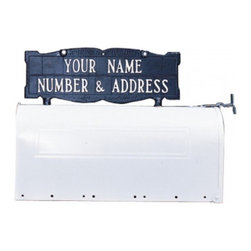Whitehall - Whitehall Double Sided 2-line Mailbox Sign without Ornament - 8002AB - Shop for Mailboxes and Accessories from Hayneedle.com! About WhitehallWhitehall is the world's largest manufacturer of weathervanes but the business points a lot more ways than east west north and south. Inspired by traditional handcrafted designs and quality Whitehall also makes gorgeous mailboxes address plaques and outdoor accents. They're based in western Michigan building American tradition and quality into every product they make.