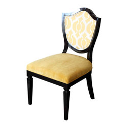 Mortise & Tenon - Grand Shield Chair - Alder wood Frame with upholstered back and front.