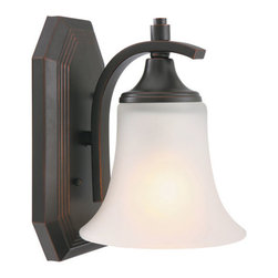 Design House - Juneau Oil Rubbed Bronze One-Light Energy Star Bath Fixture - Juneau Oil Rubbed Bronze One-Light Bath Fixture Design House - 515882