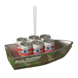 Midwest CBK - Beer Runner Camouflage Boat Christmas Tree Ornament - Lake Fishing Novelty Gift - Beer Runner Camo Boat Christmas Ornament