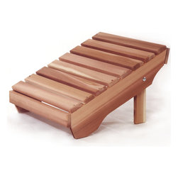 All Things Cedar - Cedar Adirondack Ottoman - Designed to compliment the comfort and fit of our Adirondack Chair. A must have for a weekend of R&B. Item is made to order.