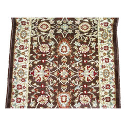 """Dynamic - Yazd 26"""" Runner Traditional Stair Runner - Stair & Hallway Runners Are Sold By The Linear Foot!  Quantity 1 = 1 Linear Ft  All Sides Are Finished   Yazd 2803-610  2.2 x 1 Brown  Dynamic Rugs"""
