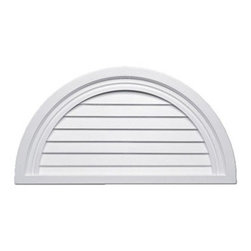 "Inviting Home - Half-Round Louvers - 36-1/4""W - half-round decorative louvers 36-1/4""W x 18-3/16""H x 1-3/16""D Decorative louvers specifications: decorative louvers designed for exterior application. Outstanding durability decorative louvers are made of high density polyurethane. These decorative louvers are lightweight durable and easy to install using common woodworking tools and can be finished with any quality paints."