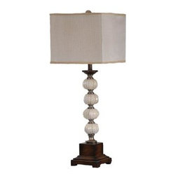 Absolute Decor - Wood Wooden Lamp: 35 in. Silver and Worn Wood Natural Sea Urchin Table Lamp CVAT - Shop for Lighting & Fans at The Home Depot. Inspired by the Sea, this Stacked Sphere Table Lamp is certain to turn heads in its direction. Mixed with Bone White, Warm Silver and Worn Wood Tones to Create a Striking transitional Appeal. The Cream Striped Sheer Taupe Fabric Shade is the perfect compliment to the Organic style of this Interesting Table Lamp.