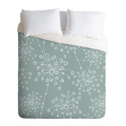DENY Designs - Rachael Taylor Quirky Motifs Duvet Cover - Turn your basic, boring down comforter into the super stylish focal point of your bedroom. Our Luxe Duvet is made from a heavy-weight luxurious woven polyester with a 50% cotton/50% polyester cream bottom. It also includes a hidden zipper with interior corner ties to secure your comforter. it's comfy, fade-resistant, and custom printed for each and every customer.